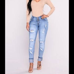 Fashion Women's Booty Lifting Jeans Stretchy 11/12